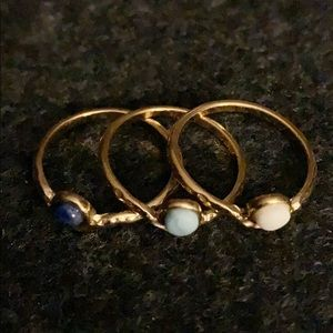 Gold tone ring trio from BR